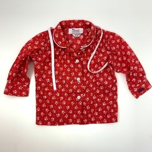 ZOD Lacoste Red Button Down top 2 months